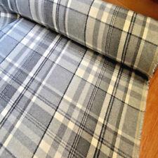 DOVE GREY CHECK Balmoral Wool Effect Tartan Upholstery Curtain Fabric