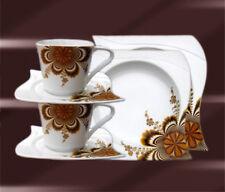 Servizio Cena in Porcellana set da caffè piatti tavolo 6+12 Pers CHR BRUN