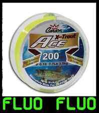 filo 200m fluo pesca trota lago tremarella monofilo per mulinello pesca giallo