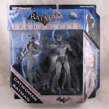 Batman and Catwoman figures Arkham City Legacy Edition black/white deco worn box