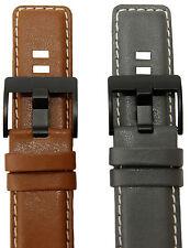 Uhrenarmband HIRSCH S-SY1 passend für Sony Smart Watches 24 mm Anstoß Lederband