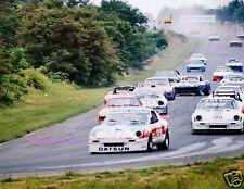 PAUL NEWMAN DATSUN 280ZX RACING PHOTO RACE CAR LEADING PACK BOB SHARP BUDWEISER