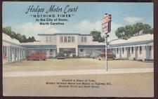 Postcard DUNN North Carolina/NC Hodges Motel/Motor Court 1940's