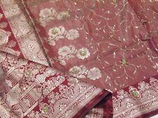 Sienna Kundan India Saree Designer Fashion Bollywood Party Sari Fabric Material