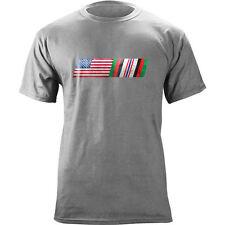 Vintage American Flag Afghanistan Campaign Blend Veteran T-Shirt