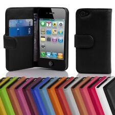 Handy Hülle für Apple iPhone 4 / 4S Cover Case Tasche Etui mit Kartenfächer