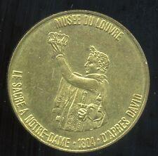 jeton TOTAL     ( musee du louvre ) LE SACRE A NOTRE DAME 1804