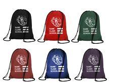 Printed School Drawstring Bag Waterproof Sports Gym Sack Swim PE Kit Shoe Sports