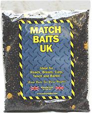 Sealed Bag 450g Hemp & Sweetcorn Carp,Course Fishing Bait, Choice of Flavours