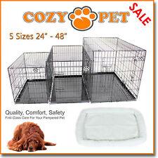 Perro Jaula con piel de oveja cama acogedora Pet Cajón del perro Cachorro 5 Tamaños Plegable Gato Crate