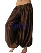 Coffee   Student Satin Harem Yoga Trouser Belly Dance Pant Pantalons   27 Color