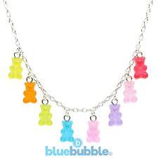 Bluebubble MY SWEET SHOP Mini Gummy Bear Necklace Sweet Novelty Kitsch Kawaii