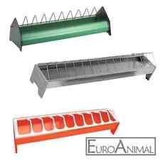 Futtertrog Geflügel Trog Hühnertrog Küken Enten; Kunststoff oder Stahl verzinkt