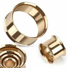 Flesh Tunnel - Rose Gold Ohr Plug Piercing Chirurgenstahl Double Flared #78