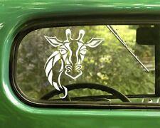 2 GIRAFFE DECAL Stickers For Car Window Truck Bumper Laptop RV Jeep