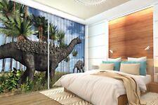 3D Dinosaur Meadow 52 Blockout Photo Curtain Curtains Drapes Fabric Window CA