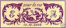 GRILLE POINT de CROIX - SERMENT D'AMOUR - réf : 8006