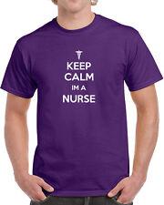 053 Keep Calm I'm a Nurse mens T-shirt doctor ER ems funny NEW medical costume