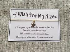 A Wish for my Niece * Wish * Wish Bracelet * Friendship * Gift * Favour