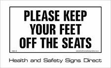 Si prega di tenere i piedi OFF SEDILI Avvertimento Adesivo 120x60mm