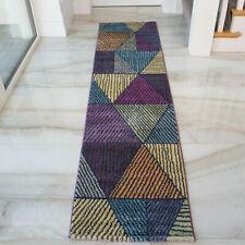 Multi Colour Blocks Patchwork Long Thin Soft Runner Hallway Rugs Mats