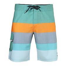 Men's Beach Vacation Swimwear Swim Trunks Pocket Board Shorts Green