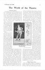 1905 ARTICLE DISASTROUS THEATRE SEASON ~ THE DEPRESSION