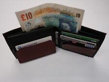 Caballeros De Cuero suave de cartera con cremallera trasera y muchas tarjetas de crédito secciones Bifold