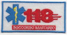 PATCH RICAMO TOPPA 118 SOCCORSO SANITARIO AMBULANZA TUTA DIVISA