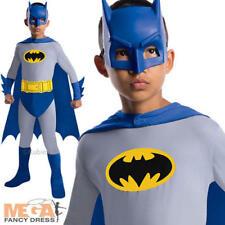 Batman Brave & Bold Kids Fancy Dress Boys Superhero Costume Childs Outfit 3-10