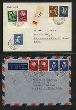 Switzerland  semi postal stamps on cover, one registered            KL0408