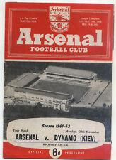 20.11.1961 Arsenal Londra-Dinamo Kiev/Kiev/Kyiv