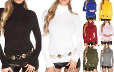 SeXy Damen Girly Pulli Rollkragen Strick Rolli Pullover 34/36/38 schwarz weiß ..