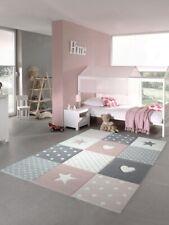 Kinderteppich Spielteppich Teppich Kinderzimmer Babyteppich mit Herz Stern in ..