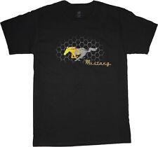 Ford Mustang t-shirt for men mustang pony flames tee shirt men's black tshirt