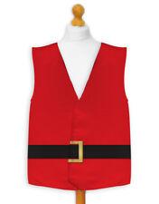 Feliz Navidad chaleco rojo de Papá Noel Chaqueta Disfraz Novedad Idea Regalo