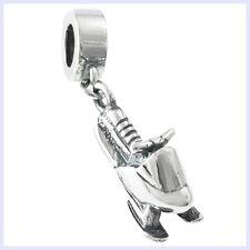 925 Sterling Silver Snowmobile Motorbike Sled Bead for European Charm Bracelet