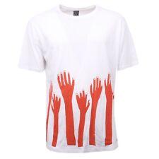 C2600 maglia uomo NEO MODENA HAND FOREST bianco/arancio t-shirt men