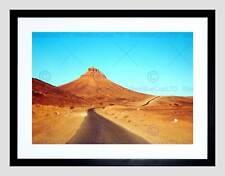 NATURE LANDSCAPE DESERT MOROCCO MOUNTAIN BLACK FRAMED ART PRINT B12X4052