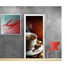 Stickers porte déco cuisine Café 735