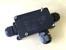 Pack 3 vie per esterni IMPERMEABILE IP65 Connettore Del Cavo Scatola di derivazione 240v UK Rete Elettrica