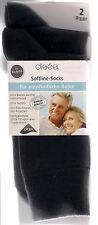 SOFTLINE  2 P. Socken Komfortbund Diabetiker-geeignet Baumwollmix schwarz div.Gr