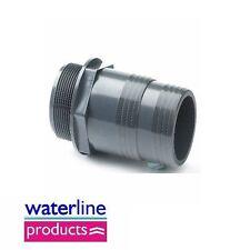 Hose Adaptor BSP -  Plain Metric Grey uPVC Pipe Fitting Imperial