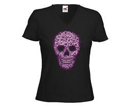Mexican señora T-Shirt Pink Skull rockabilly tatuaje v8 Gothic Lendakaris