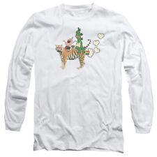 UNCLE GRANDPA FART HEARTS Lic. Men's Long Sleeve Graphic Tee Shirt SM-2XL