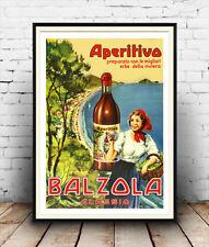 Aperitivo-Balzola : Reproduction Vintage drink advert, poster, Wall art.