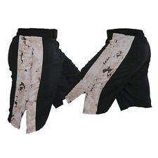 Black Mma Fight Shorts with Marpat Desert Stripe