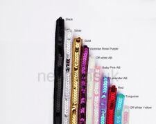 Sequin Ribbon Trimming Tape Border 10mm,Single Line Embellishment Neotrims