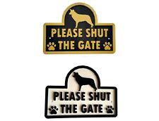 Border Collie - Please Shut The Gate - 3D Dog Plaque House Garden Door Wall Sign