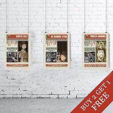 MIYAZAKI Film migliori Citazioni POSTER * Set di 3 Wall Art Print * Design Unici